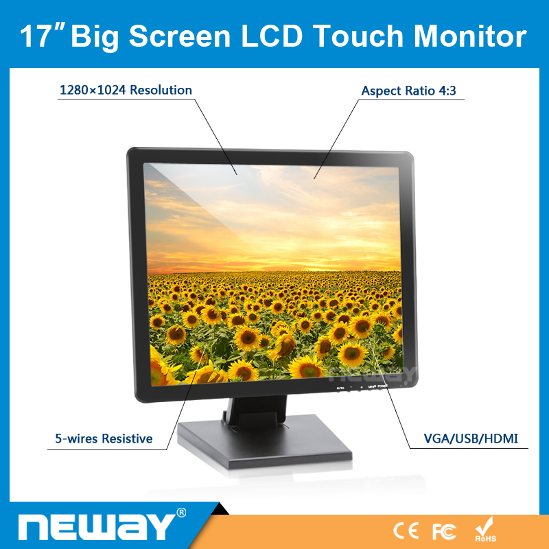 High Brightness 1080P Full HD 17 Inch LCD White Color Monitor Medical Display