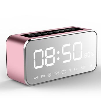 2725e7565af Am Pm Led Bluetooth Speaker Mirror Digital Alarm Clock - Buy ...