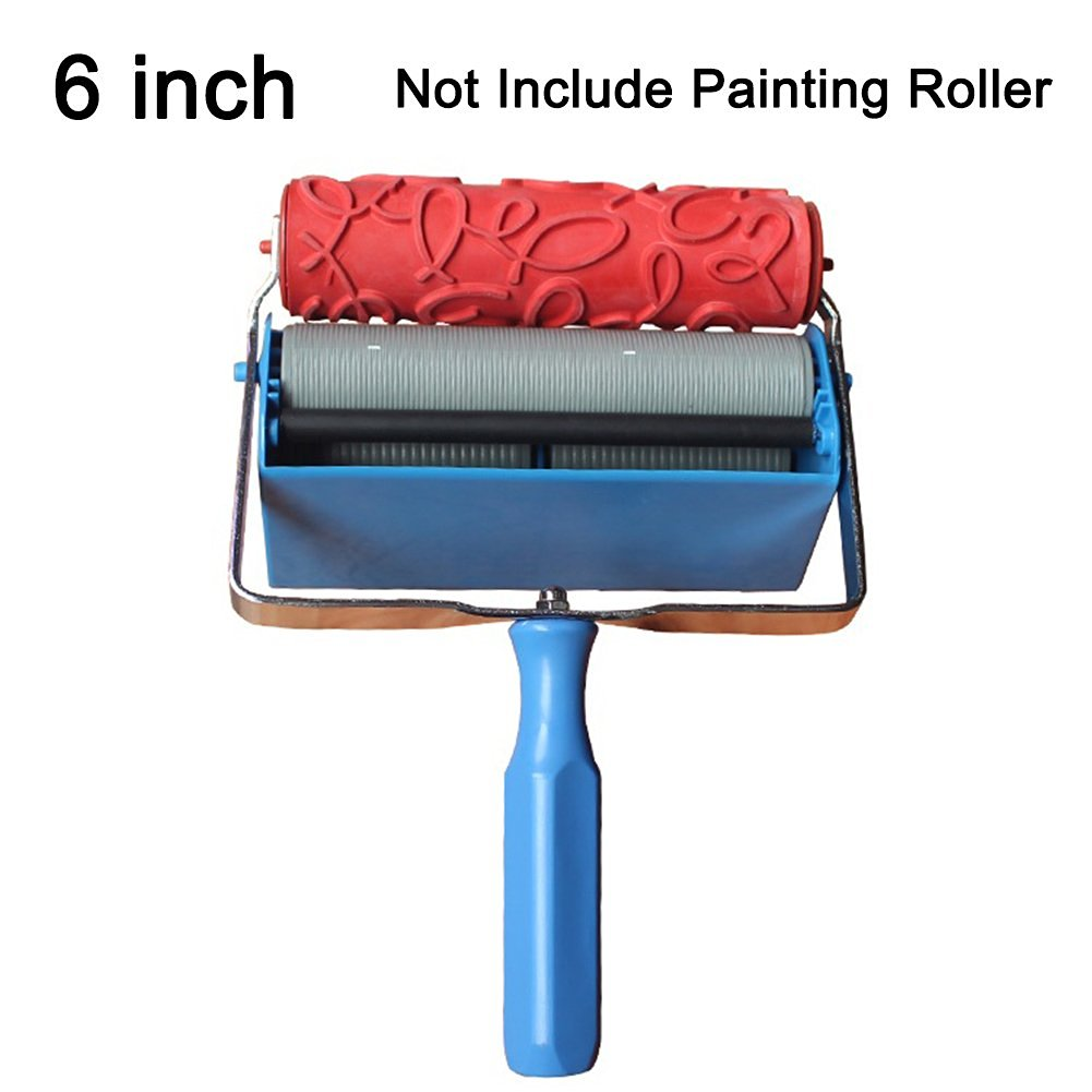 6 Inch Painting Roller , 2m² DIY Rubber 3D Wall Decoration Roller Wall Pattern Design Roller Printing Rollers For Home Wall Decoration Wall Brush Tool (Printing Decoration Machine)