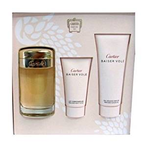 Cartier Baiser Vole by Cartier for Women 3 Piece Set Includes: 3.3 oz Eau de Parfum Spray + 1.6 oz Body Lotion...