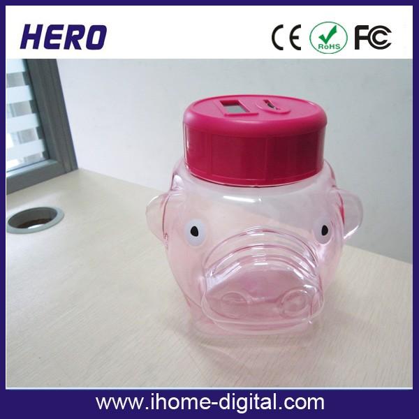 Piggy bank glass 2016 new money pots piggy box buy piggy for Plastic bottle coin bank
