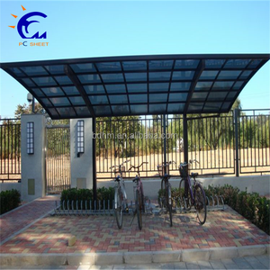 manufacturer portable aluminium carports with polycarbonate sheet roof