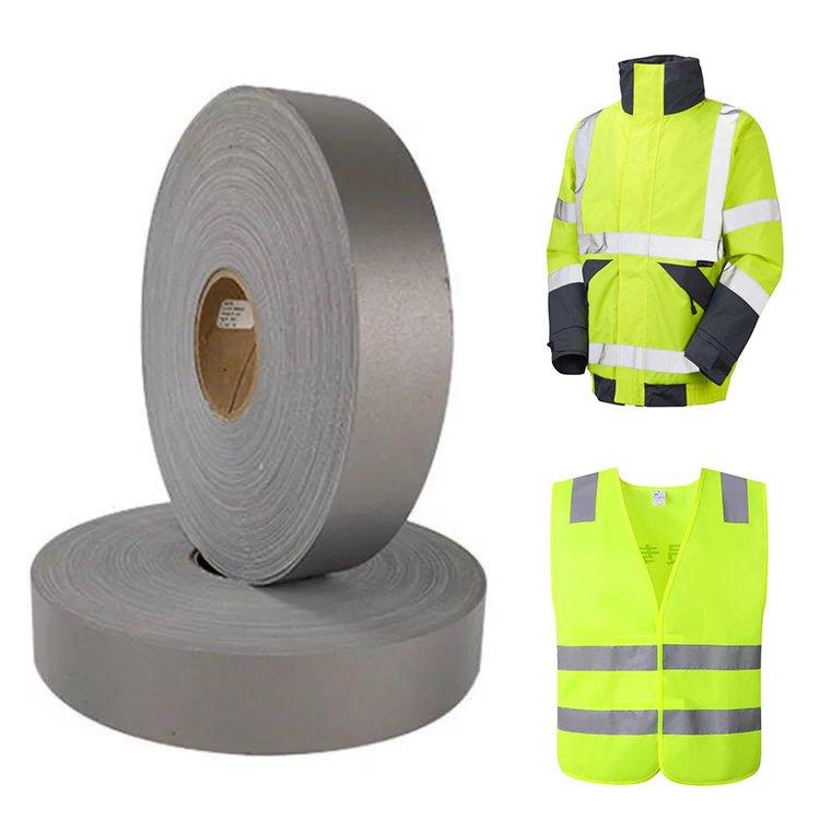 Silver, 5 yds Sew on Reflective Piping high Visibility hi vis