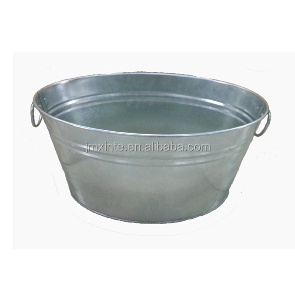 6 gallon and 8 gallon galvanized oval shaped large ice bucket or metal tub