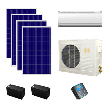 35 GW 12000btu 100% DC48V Solar Air Conditioner with solar panel and battery