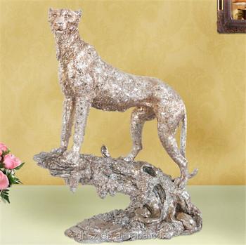 Home Decor Craft Resin Realistic Leopard Statue Luxury Animal Anime Figure