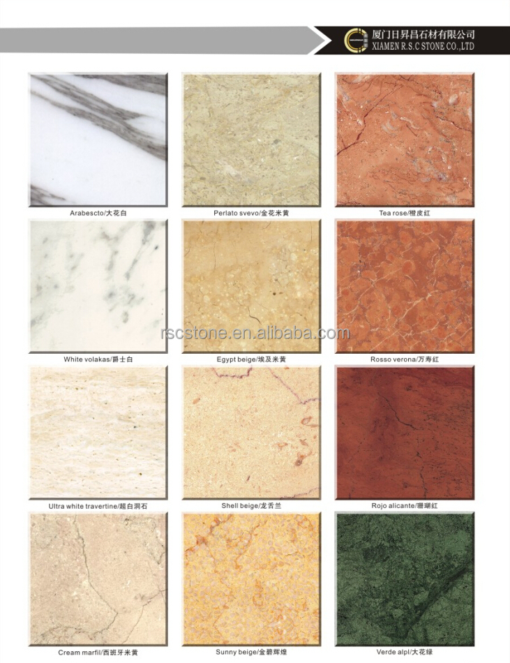Types of marble tile home design Stone flooring types