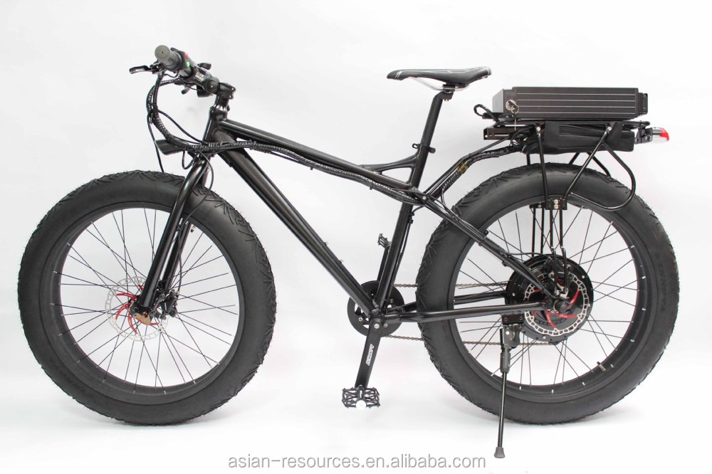 Rear Rack Fat Wheel E Bike 48v 1000w Fat Wheel Electric