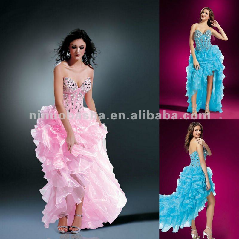NY-2176 Chunky Eastern style Shisa mirrored jewels evening dress