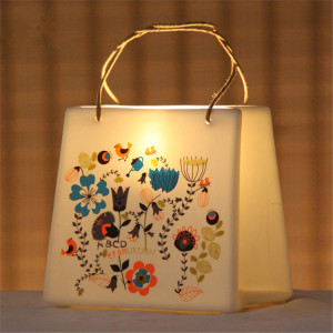 Creative handbag shaped decorative bedside ceramic night light table lamp for kids