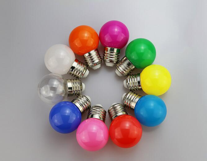 COLOR LED G45 bulb AC85-265V 3W E27 with Red/Green/Blue/Yellow/Orange Colour bulbs