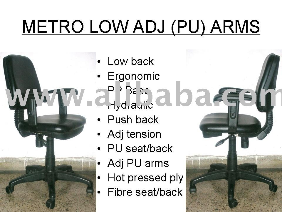 Metro Low Back PU Arm Office Chair