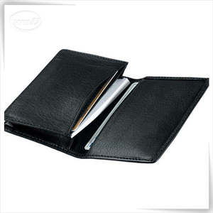 Personalized Leather Deluxe accordion credit card holder