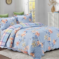 Flower Cotton Quilt Printed Washing Quilt Pujiang