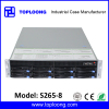 high quality 19 inch 2U 8 bays rackmount storage server case