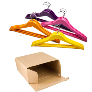 wholesale colorful red pink yellow purple wooden hanger