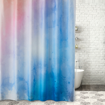 Bright Color 3D Shower Curtains Art Design Custom Printing Curtain