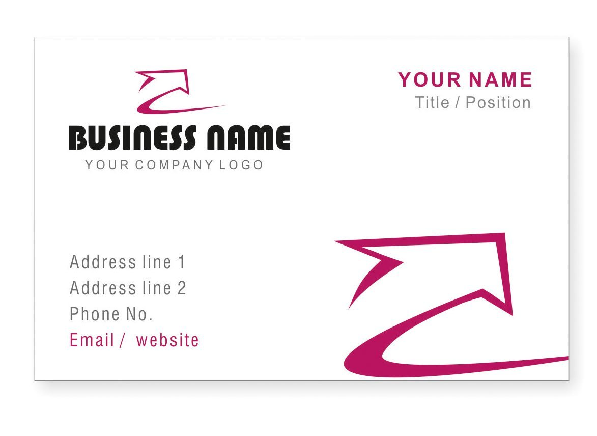 Design Your Own Personalised Business Cards Custom Professional Company Visiting Card Logo- Front