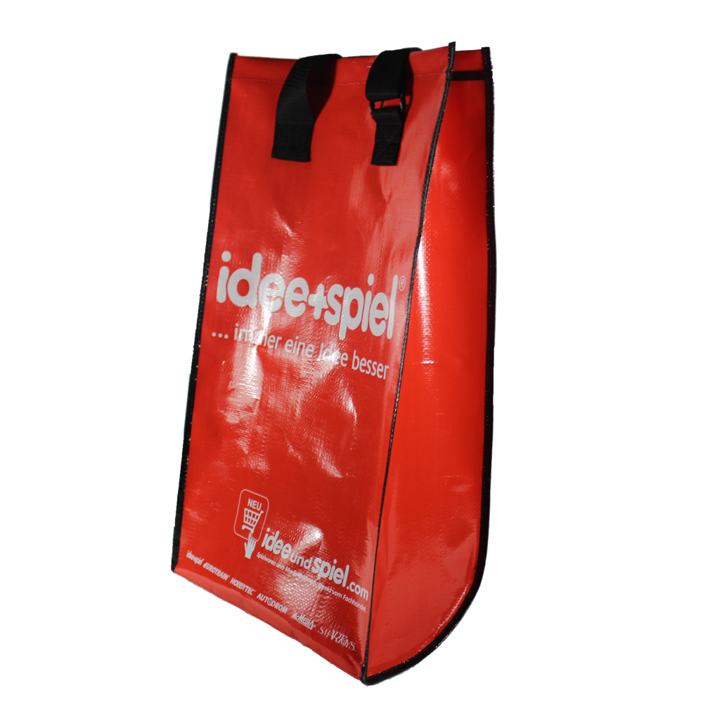 Eco-friendly <strong>PP</strong> woven customized printing foldable supermarket trolley shopping bag