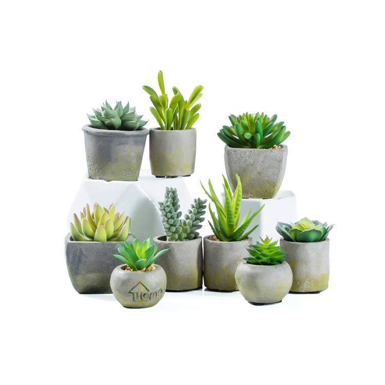 Groothandel custom decoratieve kleine mini ingemaakte nep succulente kunstmatige plant
