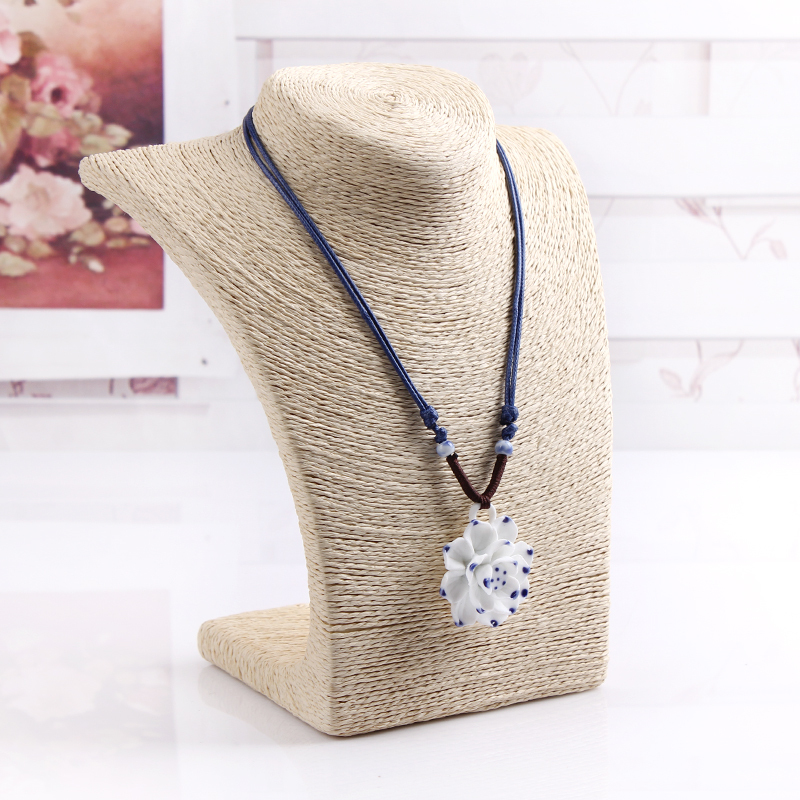Free Shipping New Rice white Necklace Pendant Chain Link Jewelry Bust Neck Display Holder Stand Wholesale