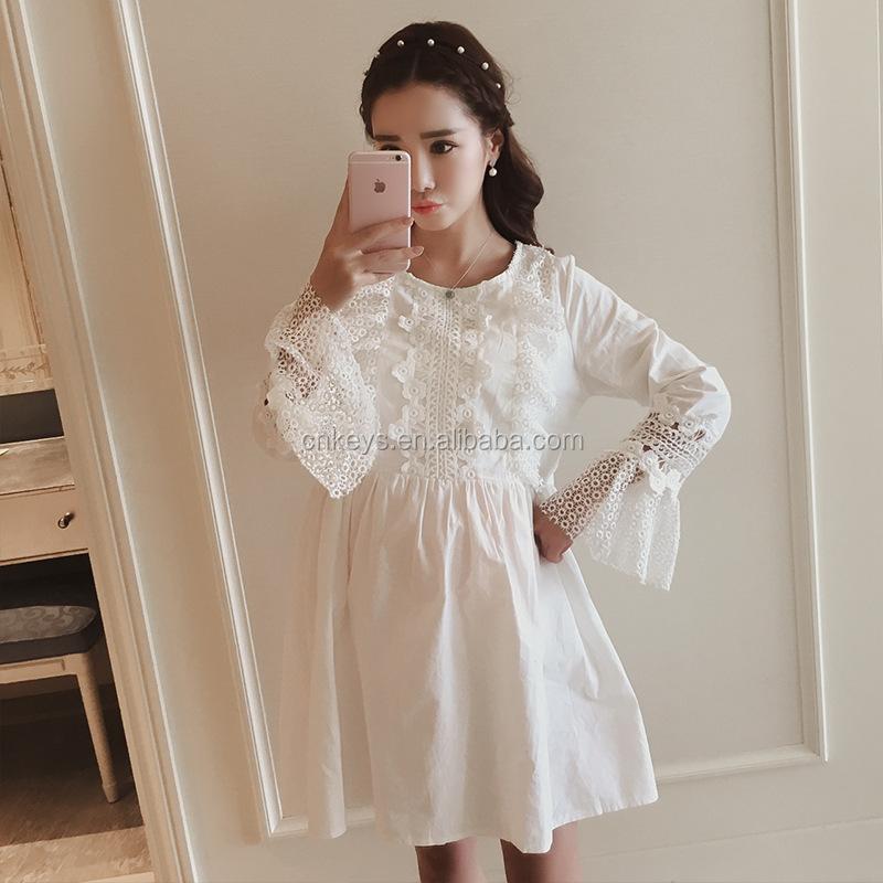 K1332a Wholesale Korean Long Sleeve Lace Pregnant Dress Maternity Clothes  Women - Buy Maternity,Organic Maternity Clothes,Fancy Maternity Clothes