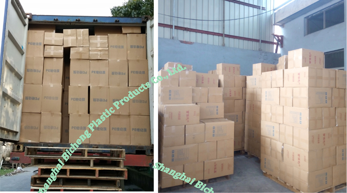 Recycled Plastic Transparency blue color LDPE film Stretch Film