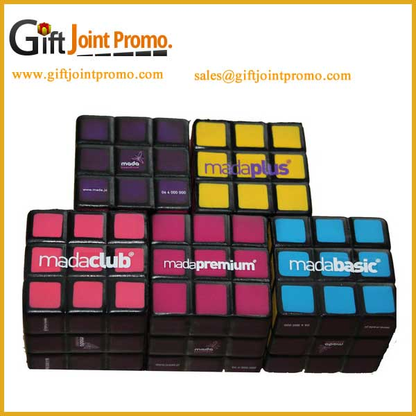Promotional Magic Cube Soft Toy Puzzle PU Stress Ball