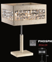 K9 Crystal chandelier table lamp Metal white chrome table chandelier