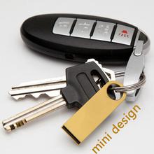 Gold Metal Memoria USB Flash Drive 16GB 2.0 Pen Driver 32gb 1TB 2TB Mini Usb Memory Stick Disk Key Pendrive 8gb Gift 64GB 128GB