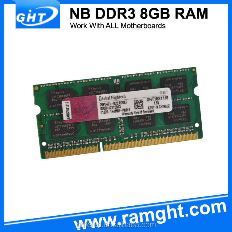 In large stock GHT memory ram ddr3 8gb sodimm