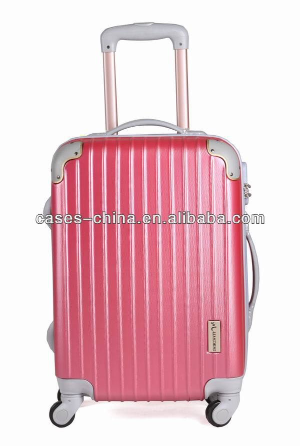 Hot-selling abs+pc travel 3pcs decent abs suitcase trolley