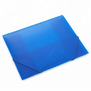 China Supplier Wholesale Plastic File A4 Elasticated Folio