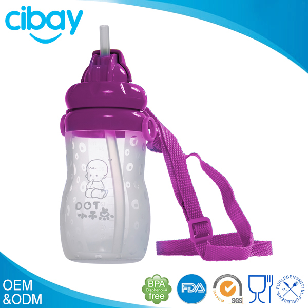 100% Medical grade silicone clear plastic drinking water bottle