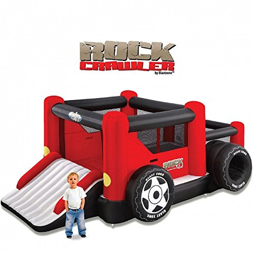 Blast Zone Rock Crawler Inflatable Bouncer with Ball Pit and Double Slide by Blast Zone