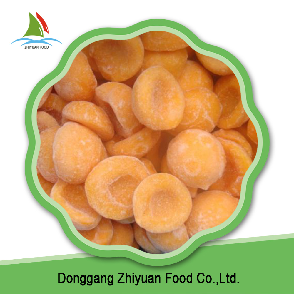 Organic food products worthful quick frozen yellow peaches