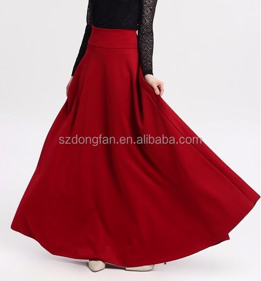 ee4188f73 S,M,L,5xl Nueva Alta Cintura Plisado Elegante Falda Vino Rojo Negro Larga  De Color Sólido Mujer Faldas Saia 5xl Plus Tamaño Señoras Jupe - Buy ...