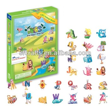 New Prodcut Foam ABC Animals 3d Puzzle Games For Kids