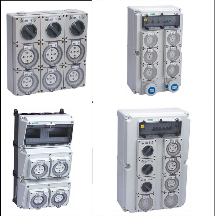 Outdoor Indoor 3 phase IndustrialWaterproof Power IP65 Wall mount Electrical Distribution Board Box For Australian