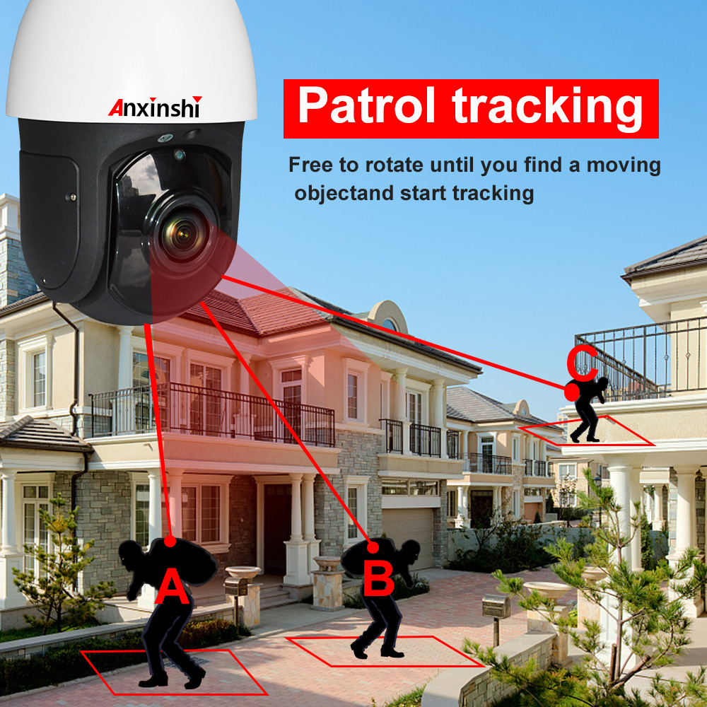 IP auto tracking PTZ 2mp 1080P starlight  camera security ip network cctv camera 300m sony IMX327