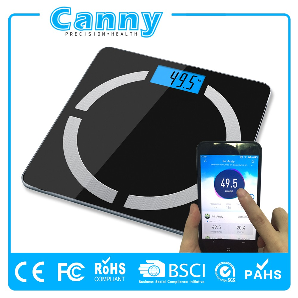 Wifi connected Digital weight Bluetooth body fat scale