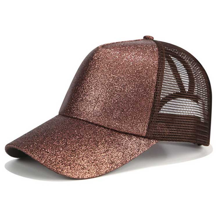 33 Colors Ponytail Baseball Cap Summer Outdoor Women Glitter Mesh <strong>Hat</strong>