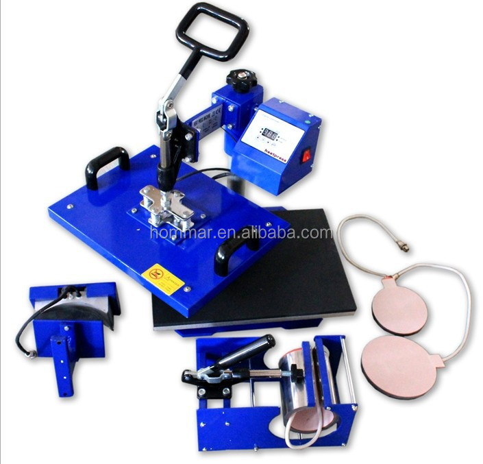5 In 1 Combo Sublimation Heat Transfer Machine /Heat Press Machine For Plate/Mug/Cap/TShirt