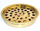 Communion ware set stainless steel tray and disk gold