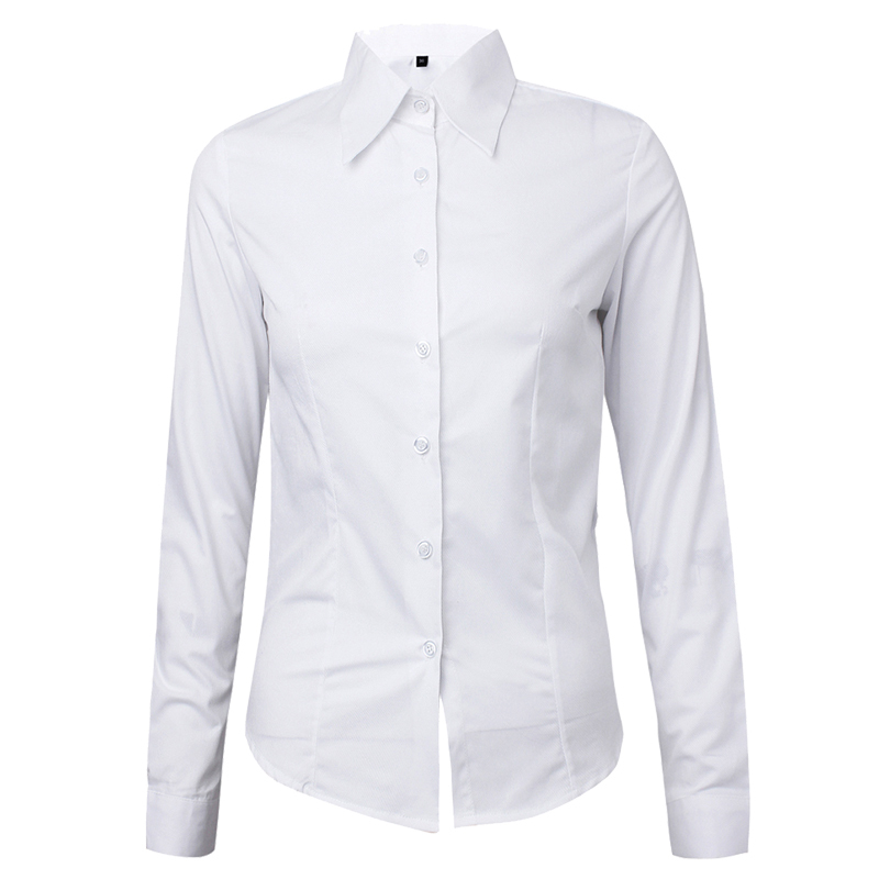 Ladies White Shirt Fashion Plain Shirts Formal Shirt For Girls ...