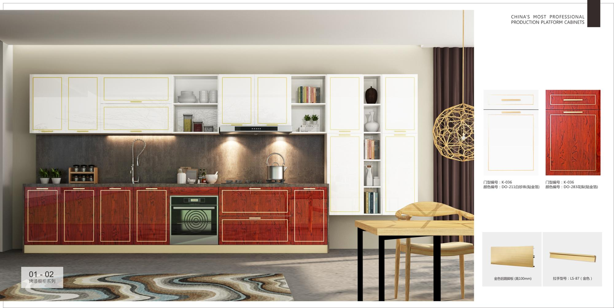 High Standard Customised Lacquer Kitchen Cabinet,Lacquer ...