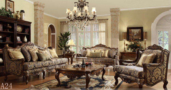 Marco de madera maciza de cuero y sofá de la tela, marco de madera ...