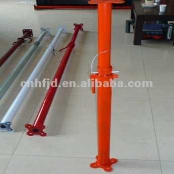 South America 2500-4500mm push pull telescopic shoring prop/Steel Acrow Props