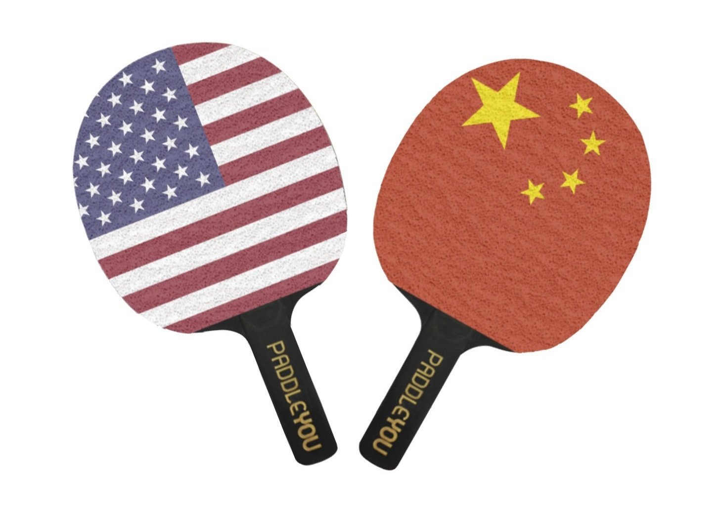 Ping Pong Diplomacy 2 Player Paddle Set (2 Game Improving Table Tennis Rackets)
