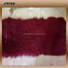 100% real hairy Mongolian/ Tibetan lamb sheepskin fur carpet/rug